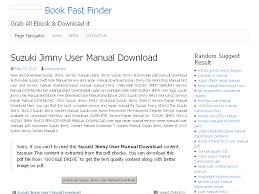 34 suzuki jimny user manual download