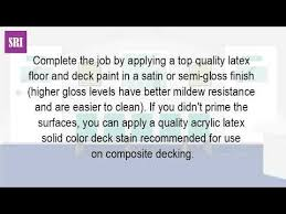 can you paint a composite deck youtube