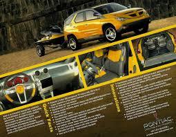 pontiac aztek yellow cars