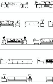 Reception Desk Cad Block Furniture Cad Blocks Sofas In Elevation View