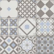 vibe light blue mosaic patterned wall and floor tiles 223 x 223mm