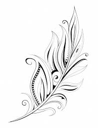 awesome feather tattoo design