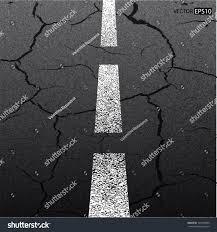asphalt cracked road dark texture white stock vector 123459820