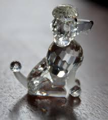 2004 swarovski crystal sitting poodle dog figurine boxed 4 1938