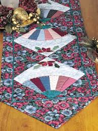 quilting table topper quilt patterns fan and flower table