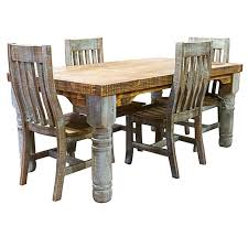 Rustic Dining Room Chairs | dallas designer furniture turquoise washed rustic dining room set