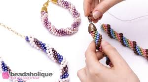 bead necklace clasp images How to finish beaded crochet rope ends and attach a clasp jpg