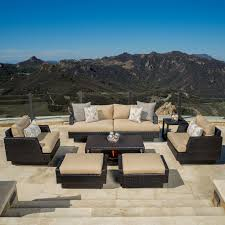 Portofino Patio Furniture Rst Brands Barcelo Spa Blue 7piece Motion Club Deep Seat Sofa Set