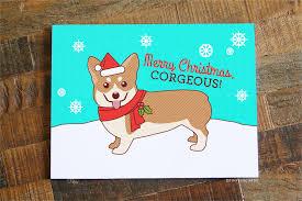 funny corgi pun christmas card u201cmerry christmas corgeous u201d u2013 tiny