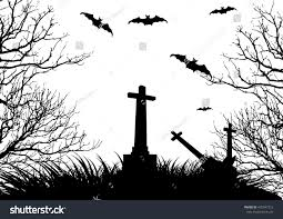 halloween background tombs happy halloween background stock vector 435047212 shutterstock