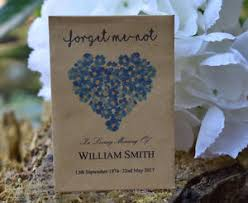 forget me not seed packets 20 funeral favour personalised seed packets memorial forget me