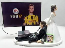 gamer cake topper wedding cake topper fifa gamer and groom xbox one ps4