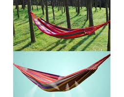 Diy Portable Hammock Stand Outdoor Hammock Single Thick Canvas Cotton Upgraded Portable