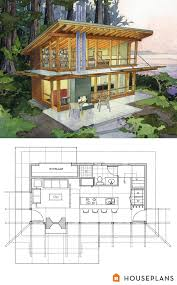small modern cabin home plan by peter brachvogel and sheila