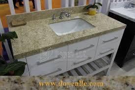 pink rose marble bathroom vanity top with bathroom sink beige