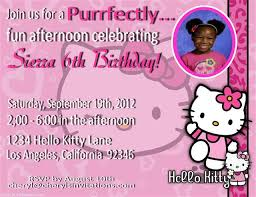 hello kitty birthday party invitation wording ideas u2013 drevio
