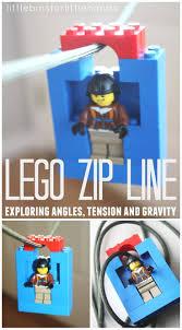 lego zip line homemade toy zip line for kids stem skills fun