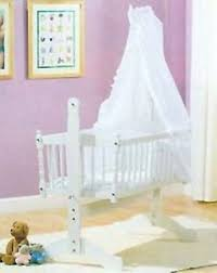 Swinging Crib Bedding White Broderie Anglais 3piece Swinging Crib Bedding Set Ebay