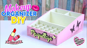 how to make diy easy and useful makeup organizer made with