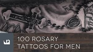 100 rosary tattoos for