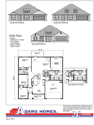 magnolia springs adams homes available floor plans 1930
