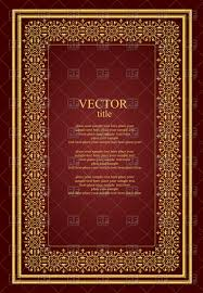templates for book covers free brochure or book cover template with golden vintage ornament royalty