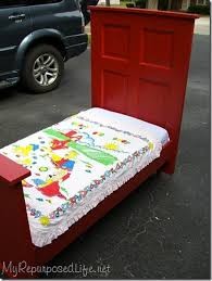 Toddler Bedroom In A Box Repurposed Door Toddler Bed Bob Vila
