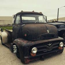 1953 1954 1955 ford f100 f 100 coe cab over engine sitting on a