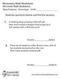 worksheets 4th grade word problems free decimals 5th 5th grade