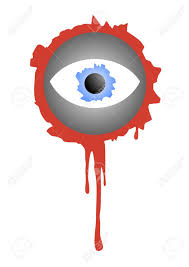 eyeball decorations halloween bloody eye for decorating halloween royalty free cliparts vectors