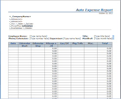 Expense Account Template by Auto Expense Report Template Free Layout Format