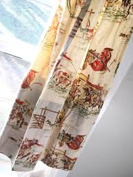 Western Fabric For Curtains Items Similar To Vintage Cowboy Curtains Set Of Four Two Pair