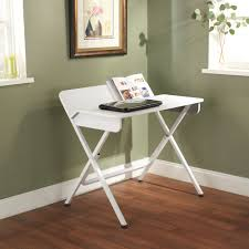 simple living white computer desk with back shelf by simple living