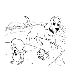 coloring page of a big dog clifford coloring pages coloring dog house coloring page simple dog
