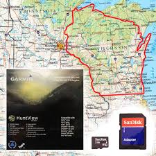 topo maps wisconsin garmin huntview map card wisconsin 79 99