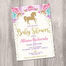 unicorn baby shower invitation baby shower invitation