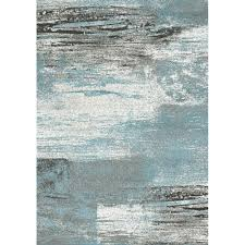 Modern Pattern Rugs by Breeze Abstract Pattern Rug Blue Grey Kalora Interiors Inc