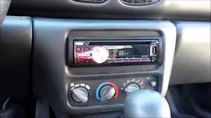 how to install aftermarket stereo pontiac sunfire youtube