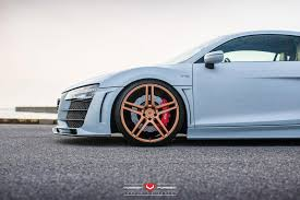Audi R8 Gold - vossen wheels audi r8 vossen forgedprecision series vps 302