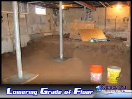 Basement Dig Out Cost by Lowering The Basement Youtube