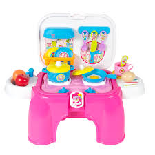 Kitchen Set Toys For Girls Kids Toy Pretend Kitchen Cooking Playset With Lights U0026 Sounds