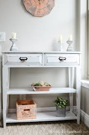 Farmhouse Console Table Small Console Table Plans A Houseful Of Handmade