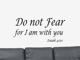 fear bible verse quote isaiah 41 10 vinyl wall art decal