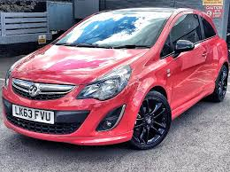 vauxhall pink vauxhall corsa limited edition in red 2013 for sale at lifestyle