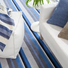 Dash And Albert Diamond by Midnight Stripe Woven Cotton Rug Design By Dash U0026 Albert U2013 Burke Decor