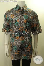 desain baju batik halus model baju batik terbaru pria 2018 hem lengan pendek motif kekinian