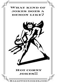 black and white halloween joke cartoon demon cpal