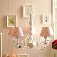 Mini Shade Chandelier 6 Light Glass Shade Simple Chandeliers For Bedroom