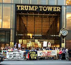 Trump Tower Ny New York And Los Angeles Protests Say