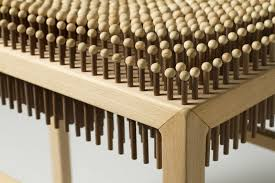 wooden designs unique wooden chair with hundreds wooden nails as the seat